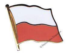 Pin's drapeau Pologne polonais badge 2x2cm doré