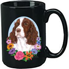 Springer Spaniel Liver & White Ceramic 15oz Black Ace Coffee Mug
