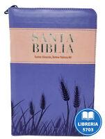 BIBLIA LETRA GRANDE REINA VALERA 1960 CON INDICE Y CIERRE COLOR ROSA VIOLETA