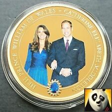 2010 Isole Cook $1 DOLLARO WILLIAM & Catherine placcato in oro 24k Foto Kit