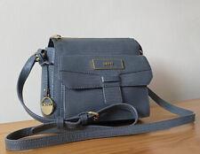 DKNY Grey Croc Embossed Leather Small Crossbody Bag