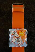 Sellos Reloj Seasalt el tiempo vuela scillies cara naranja S.t.a.m.p.s. Correa De Cuero