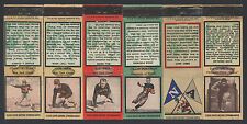 1934 1935 1936 DIAMOND MATCHBOOKS ~ NEW YORK GIANTS PHILADELPHIA EAGLES ILLINOIS