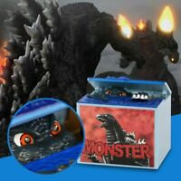 Cute Godzilla Movie Musical Monster Moving Electronic Coin Money Piggy Bank Box