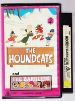 Animation Cartoon THE HOUNDCATS and THE BARKLEYS VHS VIDEO TAPE VINTAGE