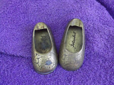 Vintage Old Brass Miniature Shoes Ashtray Istanbul