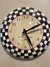 MacKenzie-Childs Courtly Check Enamel Clock