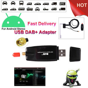 Dab+adapter For Android radio Digital Audio Broadcasting  antenna USB jack dab+