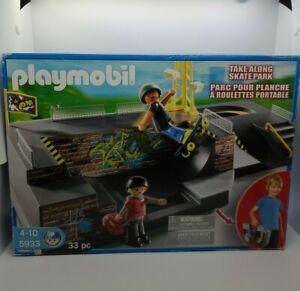 Playmobil Take Along Skate Park 5933 33 Pc Brand New Sealed