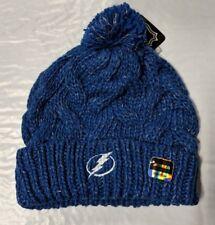 e817ece70b6 Tampa Bay Lightning Knit Beanie Toque Winter Hat Skull Cap NEW Solid  Women s Pom