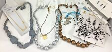 NEW Necklace & Earring Sets Chunky Bead Choker Rhinestone Black Blue 8sets #H43
