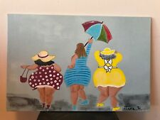 Art original acrylic painting  Framed by Ilana Horn  - The Ladies