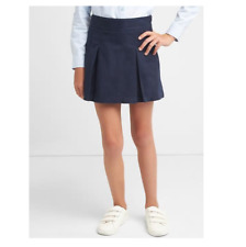 NWT GAPKids sz 7 PLUS navy blue skirt school uniform skort shorts pleated indigo