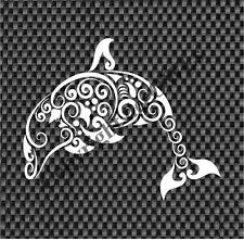 """Tribal Dolphin Decal for Window/Car/Truck CUTE **Available 20 COLORS** 12"""" X 14"""""""