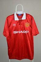 Manchester united 1992 1994 home shirt jersey umbro reissue of shirt size XL