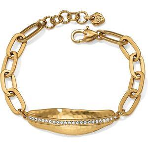 NWT Brighton BILBAO LINK Gold Crystal Statement Bracelet MSRP $52