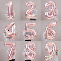 32 inch Number Foil Balloons Air Ballons Birthday Party Wedding Decor Supplies