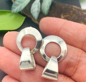 Vintage TAXCO obsidianonyx BRACELET earring ensemble SILVER