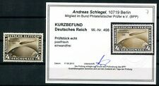 DR 1933 498 ** POSTFRISCH LUXUS NEUER BEFUND BPP 300€(49659