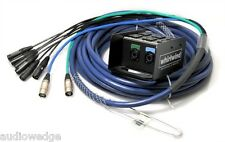 Whirlwind Medusa Data Audio Snake 6 XLR inputs, 2 CAT6 Ethercon, 150'
