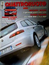 Quattroruote 605 2006 Prova Logan. Come vanno Alfa 159SW e Audi Q7. Ferrari Q96]