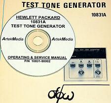 HP Hewlett Packard 10831A 10831A TEST TONE GENERATOR Operating & Service Manual