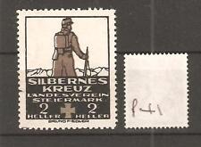 CINDERELLA -P41 - GERMANY - SILBERNES KREUZ - LANDSVEREIN