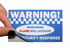WARNING! alarm PVC Vinyl stickers sign decal. Home House office security protect