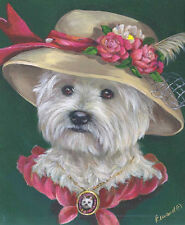 WESTIE EASTER BONNET (Lady Evelyn)  GARDEN FLAG FREE SHIP USA RESCUE