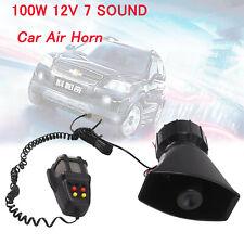 New 7 Tone Sound Car Police Siren Horn Megaphone with Mic PA Speaker System 12V