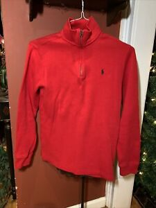 POLO Ralph Lauren Boys XXL 18-20 Red 1/4 Zip Top