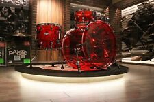 Pearl Crystal Beat 4-piece Ruby Red Acrylic Drum Set (10-12-14-22) - New!