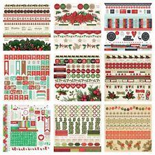 "KAISERCRAFT 5 Random Christmas 12x12"" Sticker sheets (chosen at random)"