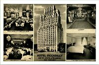 RPPC 1930s Hotel Picadilly, New York City Postcard Multiview Lupitone Photoprint