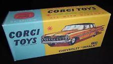 Corgi 220 Chevrolet Impala Empty Repro Box Only