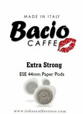 BACIO EXTRA STRONG 50 ESE PAPER PODS 44mm 100% Pure Coffee