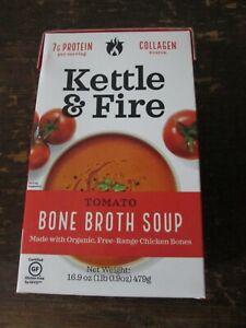Kettle & Fire Tomato Bone Broth Soup (2) 16.9 oz New Two Boxes Organic