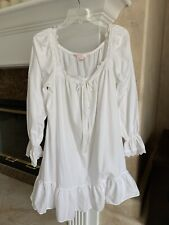 Vintage Victoria'S Secret White Niightgown Victorian Eyelet Lace Ruffle Size M