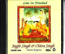JAGJIT SINGH & CHITRA SINGH - LIVE IN TRINIDAD - ISLAMIC RELIGIOUS CD