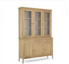 Large Oak Sideboard and Glazed Display Top RRP £1049