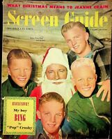 "Vintage December 1949 ""Screen Guide"" Magazine My Boy Bing By Pop Crosby  m1308"