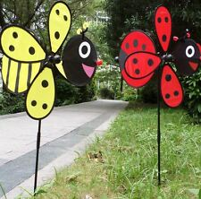 New Bee Ladybug Garden Yard Outdoor Décor Windmills Wind Spinners Decoration