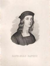 Raffaello Sanzio 1857 acquaforte