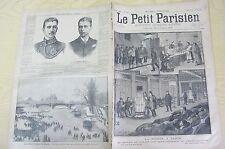 Le petit parisien 1891 104  La misère à Paris La seine prise en glace Baudouin