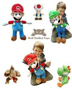 """Extra Large Mario Luigi Peaches Yoshi Donkey Kong Toad Plush Soft Toy 68cm 26"""""""