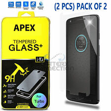 Premium Real Tempered Glass Screen Protector Shield for Motorola Droid Turbo 2