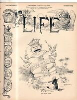 1899 Life January 19 - Uncle Sam kneels; Roulette Gambling; Coontown; Roosevelt