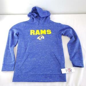 -= NFL Team Apparel Youth Boys L 12/14 Los Angeles Rams Hoodie w/ Pocket NEW