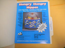 HUNGRY HUNGRY HIPPOS    ARCADE   GAME  FLYER