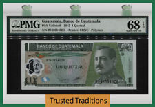 TT PK UNL 2012 GUATEMALA 1 QUETZAL ORELLANA PMG 68 EPQ SUPERB GEM UNCIRCULATED!